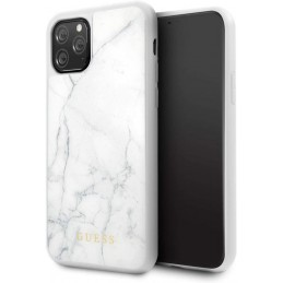 COVER IPHONEIPHONE 11 PRO GUESS EFFETTO MARMO BIANCO