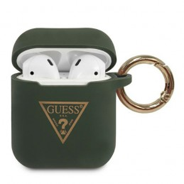 COVER SILICONE GUESS PER AIRPODS 1/2 GREEN