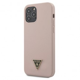 COVER SOFT TOUCH GUESS ROSA IPHONE 12 / 12 PRO