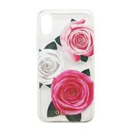 GUESS COVER HARD CASE PINK ROSES IPHONE X