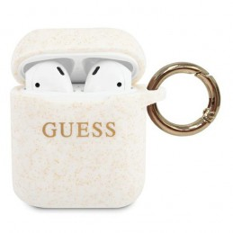 COVER SILICONE GUESS PER AIRPODS 1/2 BIANCO