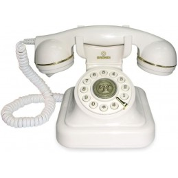 TELEFONO STILE VINTAGE CON CAVO IN TESSUTO