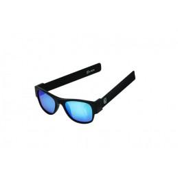 CLACK BLACK/BLACK POLARIZED  BLUE MIRROR LENS CAT 3 UV400 Polarizzate antiriflesso effetto specchio Protezione raggi UV-A e UV-B