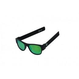 CLACK BLACK/BLACK POLARIZED – GREEN MIRROR LENS CAT.3 UV400 Polarizzate antiriflesso effetto pecchio Protezione raggi UV-A e UV-