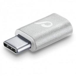ADATTATORE DA MICROUSB  A USB-C BIANCO