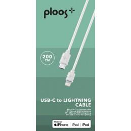 CAVO USB 2M USB-C TO LIGHTNING BIANCO