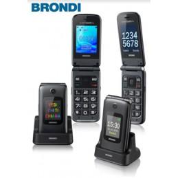 TELEFONO CELLULARE BRONDI AMICO GRANDE 2 LCD TITANIO