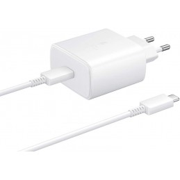 CARICABATTERIE ORIGINALE SAMSUNG USB-C 45 Watt COMPLETO DI CATO USBC/USBC CONFEZIONE BLISTER