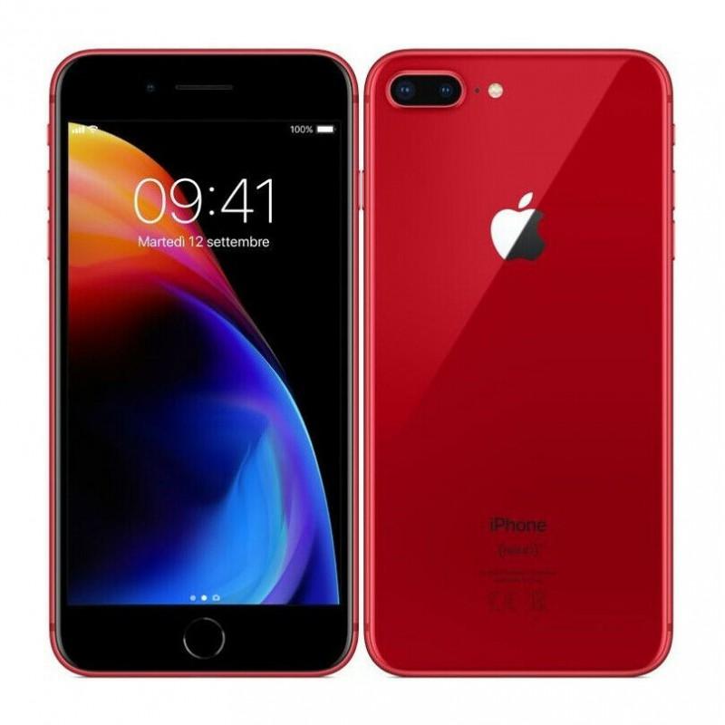 iPhone 8 64 GB Red A++ usato.Grado estetico Pari al nuovo.Batteria nuova.Garanzia 12 mesicompleto di scatola ed accessori compat