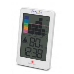 Registrazione grafica dell\'umiditàTemperatura interna Avviso di muffaSupporto a parete o da tavolo Fonte di alimentazione: 2x1.