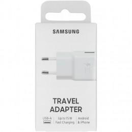 CARICABATTERIE DA RETE SAMSUNG EPTA20EWE USB 2A SENZA CAVO BIANCO IN BLISTER