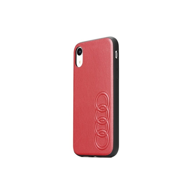 COVER ECOPELLE AUDI APPLE IPHONE XS MAX ROSSA