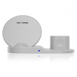 CARICABATTERIE WIRELESS FAST CHARGE 3 IN 1